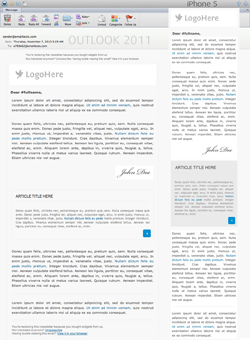 Responsive email preview